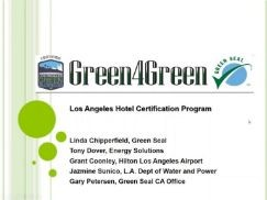 Los Angeles Green4Green Incentive for Hotels