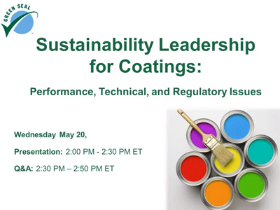 Sustainability Leadership for Coatings